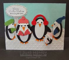 Penguin punch art, awesome penguins!! from:It's a La Dee Dah Day!