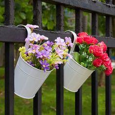 Amazon | Ourwarm® プランター 植木鉢 壁掛けフラワーポット ガーデニング 家庭菜園・ベランダ菜園用(10色セット) | 鉢
