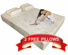 12 Inch Full Cool Medium Firm Memory Foam Mattress Bed With 2 Free Gel Pillows