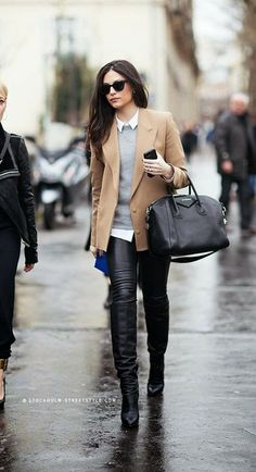 I just want to pull off long boots and skinny leather pants