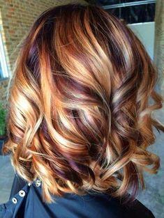 35 Hottest Fall Hair Colour Ideas for All Hair Types 2019 - Hair Colour Style - Hair - Balayage Blond, Brown Hair With Blonde Highlights, Hair Color Highlights, Hair Color Balayage, Caramel Highlights, Caramel Color, Ombre Hair, Blonde Ombre, Bayalage Caramel