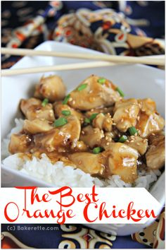 The Best Orange Chicken Recipe! remodelaholic.com #chicken #recipe #orange_chicken