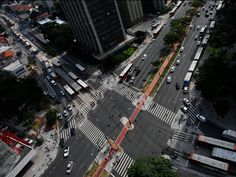 "An aerial view of São Paulo, Brazil. Photo: Nacho Doce/Reuters. We are a society ""addicted to cars,"" according to the four young founders of Urb-i. Read more: http://www.techinsider.io/urbi-before-after-gallery-2015-8#ixzz3koL7hYYK"