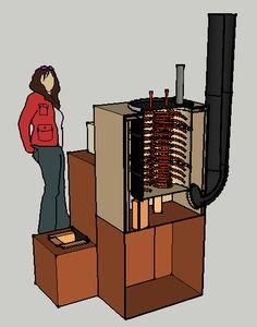 Rocket stove water heater.