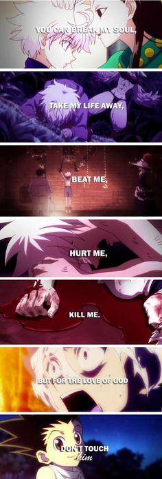 se puede romper, mi alma. Quitándome la vida,  Golpeándome Hiriendome Matandome, pero... no toques a gon