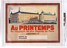 « Au Printemps », les magasins les plus élégants de #Paris (affiche, Les Imprimeries françaises réunies, 1930).