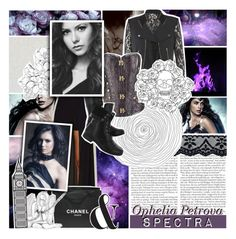 """""""// Monsters, stuck in your head We are, we are, we are, Monsters, under your bed We are, we are."""" by mikaelsonlegacy ❤ liked on Polyvore featuring Lioness, Chanel, Hush Puppies and KingBenjaminSelectionBonus"""