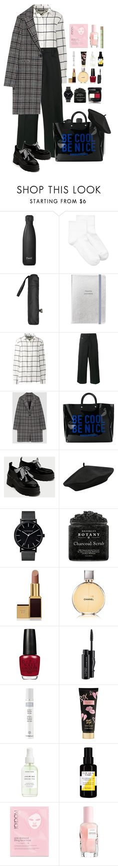 """Checks."" by krys-imvu ❤ liked on Polyvore featuring S'well, HUE, MANGO, Lands' End, Sophnet., Dsquared2, M&Co, Tom Ford, Chanel and MAC Cosmetics"