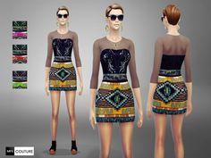 MFS Lust Dress by MissFortune at TSR via Sims 4 Updates