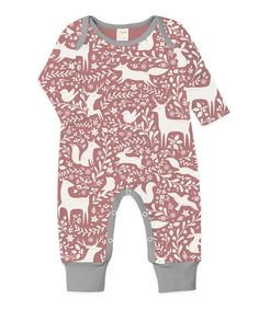 Take a look at this Red Forest Animals Playsuit - Infant today!
