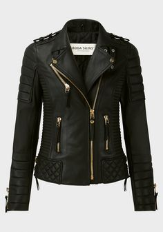 Kay Michaels Quilted Biker V.2 (Gold Hardware) - Jackets - Women - Boda Skins