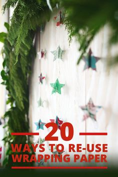 Did you know it's estimated that in one holiday season we use enough  wrapping paper to circle the globe NINE times?! Since most conventional  wrapping papers are not recyclable, here's twenty clever ways (plus a few  more)to reuse this perfectly good paper throughout the year.