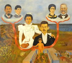 my grandparents, my parents, and I - family tree, 1936 Frida Kahlo