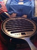 Made in the USA:    Pre-Seasoned, Cast Iron, BBQ grill pan, cooking insert, Lodge, grill press, griddle. stove top grills, indoor grilling, pan grill it, winter grilling, restaurant utensils