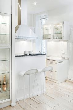 small kitchen space with wine cooler