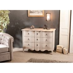 Commode Baroque beige 3 tiroirs 110cm ODYSSEE PIER IMPORT
