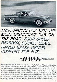 1961 Studebaker Hawk Advertising Sports Car Illustrated December 1960