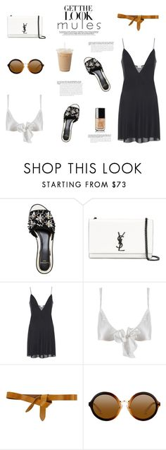 """MULES"" by canvas-moods ❤ liked on Polyvore featuring Yves Saint Laurent, Only Hearts, Isabel Marant, Chanel, trend, saintlaurent, mules and springsummer2017"