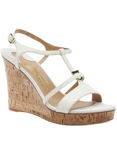 SALVATORE FERRAGAMO Logo Wedge Sandal