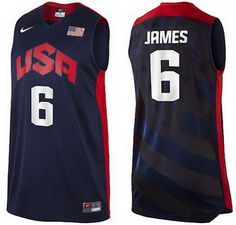 19c134c58 USA Dream Team  6 James Swingman NBA Jerseys-Blue Mens Basketball Jerseys