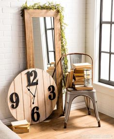 Mix rustic-looking wood and metal pieces with faux foliage for a soft spin on the industrial trend. Modern Industrial Decor, Industrial Farmhouse Decor, Modern Decor, Red Farmhouse, Houston, Home Decor Inspiration, Decor Ideas, Room Ideas, Wood And Metal
