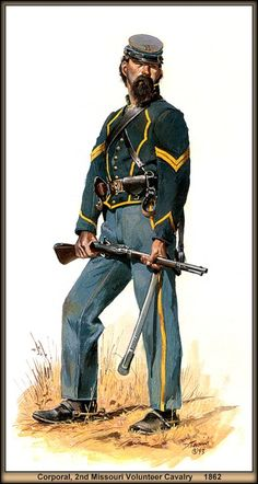 American civil war uniforms: helped distinguish between the Union soldiers of the North, and the Confederate soldiers from the south. Consisted of a dark blue wool coat with light blue trousers and a dark cap called a forage cap