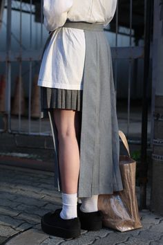 pleat and wrap skirt