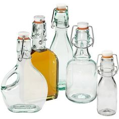 Hermetic bottles via The Container Store, these would be cute for homemade vanilla