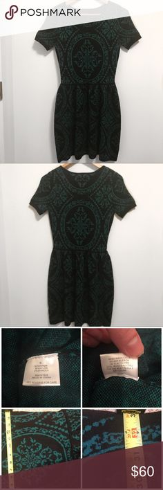 "Romeo & Juliet Couture Medallion Sweater Dress-S Absolutely GORGEOUS Romeo + Juliet Couture black and hunter green medallion print sweater dress. Short sleeves, exposed back . Style #RJ32365. 📍Brand new with tags! Non smoking home  All measurements taken laying flat Approx. 15"" armpit to armpit Approx. 33""L from shoulder seam to hem  📌5 Star Seller 📌Posh Ambassador 📌Fast Shipper Romeo & Juliet Couture Dresses"