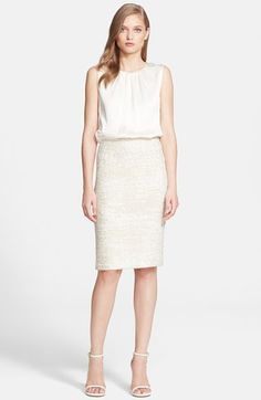 St. John Collection Satin Ribbon Knit Dress with Liquid Crepe Bodice available at #Nordstrom