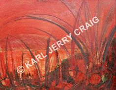 Red Landscape no Giclee Print, Art Pieces, Neon Signs, Landscape, Artist, Prints, Red, Artworks, Scenery