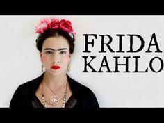 Frida Kahlo Makeup/Hair Look Halloween Costume Videos, Halloween Makeup, Halloween Ideas, Mexican Hairstyles, Cool Hairstyles, Frida Kahlo Makeup, Belle Hairstyle, Costume Tutorial, Makeup Inspiration