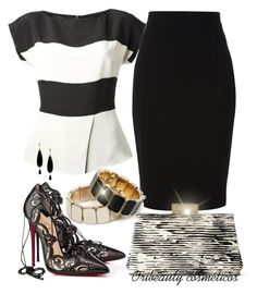 Black & White by oribeauty-cosmeticos on Polyvore featuring polyvore beauty Redopin NUR Etro Givenchy Christian Louboutin