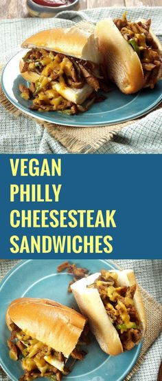 Vegan Philly Cheesesteak Sandwiches