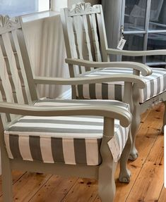 Chair Makeover, Furniture Makeover, Furniture Decor, Painted Furniture, Painted Couch, Outdoor Sofa Sets, Furniture Making, Upholstery, House Design