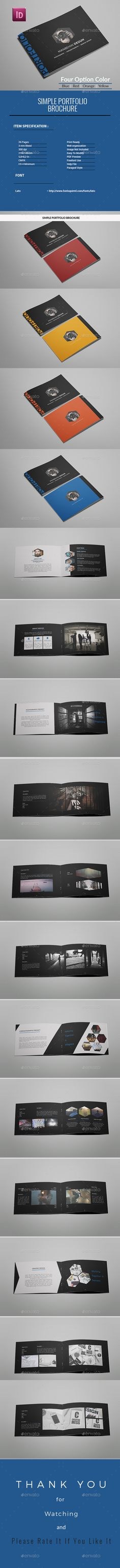 A5 Simple  Portfolio Brochure