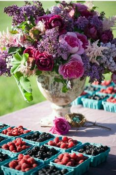 Peonies and lilacs and berries!