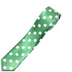 Green Clover Skinny Tie