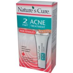 Amazon.com: Nature's Cure Two-Part Acne Treatment System, for Women, 1 month supply (60 Tablets, 1 Ounce Cream): Beauty
