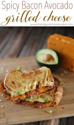 Spicy Bacon Avocado Grilled Cheese
