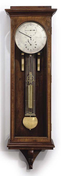 A Victorian Scottish mahogany eight day wall regulator   JAMES HAY, GLASGOW. CIRCA 1880   eight-day, Clocks   Christie's