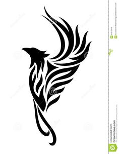 Phoenix Tattoo Clipart Stock Illustration - Image: 64873448