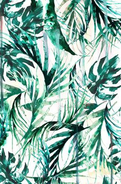 Green Tropical paradise  Art Print