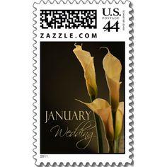 calla lily stamp