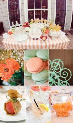 Color palette -  Peach & aqua