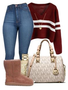 """If you wanna be with me, gotta be and only me."" by mindlesspolyvore ❤ liked on Polyvore featuring Michael Kors, MICHAEL Michael Kors and UGG Australia"