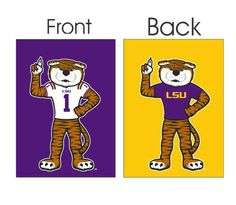"""13""""+x+18""""+LSU+Mike+the+Tiger+Mascot+Garden+Flag"""