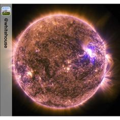 Repost from @whitehouse:  Check out this look at our sun taken by @NASAs Solar Dynamics Observatory. The SDO watches the sun constantly and it captured this image of the sun emitting a mid-level solar flare on June 25. Solar flares are powerful bursts of radiation. Harmful radiation from a flare can't pass through Earth's atmosphere to physically affect humans on the ground. But when they're intense enough they can disturb the atmosphere in the layer where GPS and communications signals…