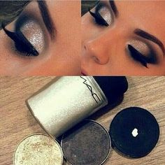 Fun glitter makeup look!