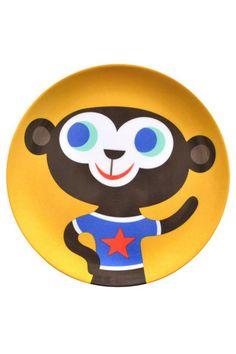 monkey melamine plate helen dardik